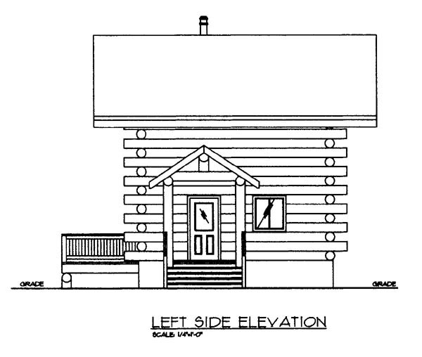 Log House Plan 86870 Picture 1