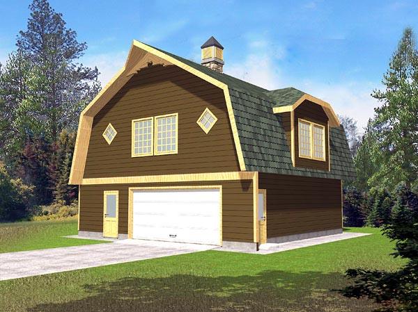 2 Car Garage Plan 86887 Front Elevation