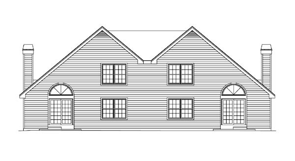 Country, Traditional Multi-Family Plan 86954 with 6 Beds, 6 Baths, 4 Car Garage Rear Elevation