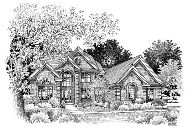 Traditional House Plan 86963 with 4 Beds, 4 Baths, 1 Car Garage Picture 3