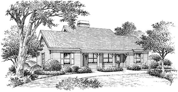 Cabin, Cottage, Country, Ranch, Traditional Multi-Family Plan 86978 with 2 Beds, 2 Baths Picture 3