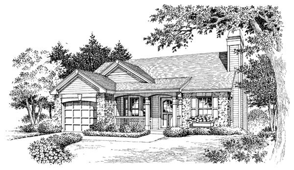 Cabin, Cottage, Country, Ranch, Traditional House Plan 86990 with 3 Beds, 2 Baths, 1 Car Garage Picture 3