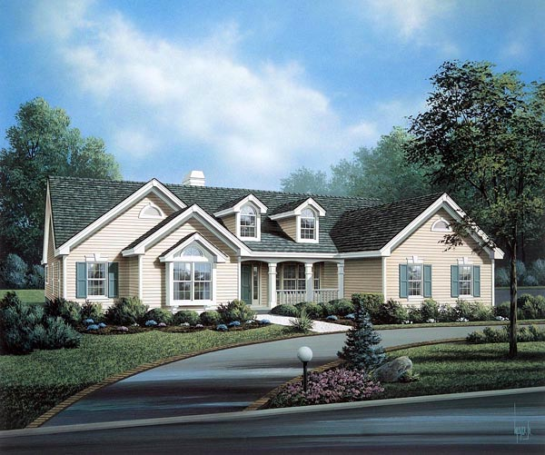 Cape Cod, Country, Ranch, Traditional House Plan 86993 with 4 Beds, 3 Baths, 3 Car Garage Front Elevation