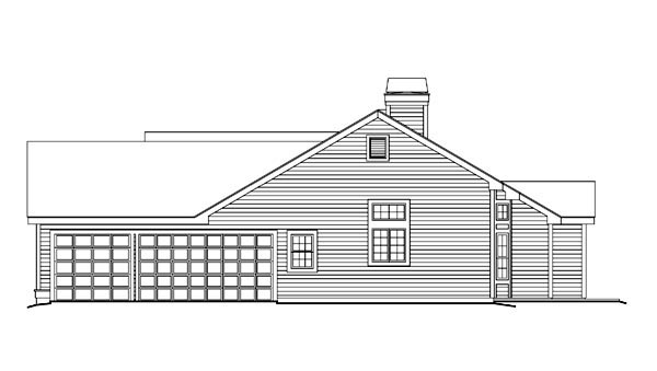 Cape Cod, Country, Ranch, Traditional House Plan 86993 with 4 Beds, 3 Baths, 3 Car Garage Picture 2