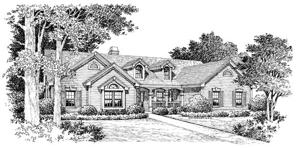 Cape Cod, Country, Ranch, Traditional House Plan 86993 with 4 Beds, 3 Baths, 3 Car Garage Picture 3