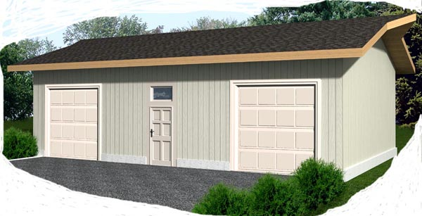 2 Car Garage Plan 87036 Front Elevation