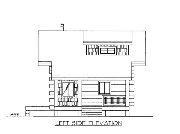 Log House Plan 87143 Picture 1