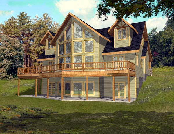 Contemporary House Plan 87197 with 3 Beds, 3 Baths Elevation
