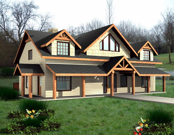 Country House Plan 87198 with 4 Beds, 4 Baths Elevation