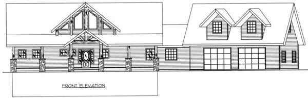 Contemporary House Plan 87204 with 3 Beds, 3 Baths, 2 Car Garage Rear Elevation