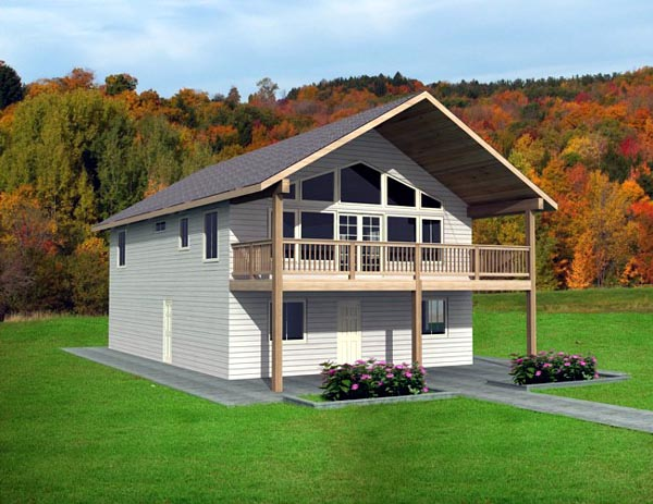 Contemporary House Plan 87228 with 2 Beds, 2 Baths, 2 Car Garage Front Elevation