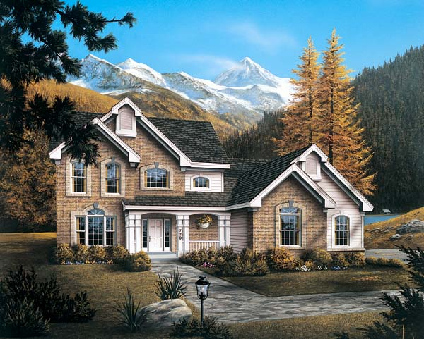 Country House Plan 87314 with 4 Beds, 4 Baths, 2 Car Garage Front Elevation