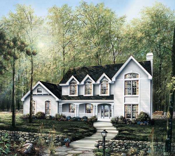 Country House Plan 87315 with 4 Beds, 4 Baths, 3 Car Garage Front Elevation