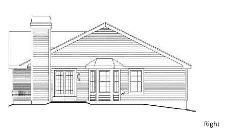 Country House Plan 87392 with 3 Beds, 2 Baths Picture 2