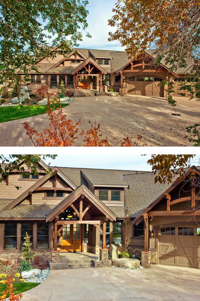 Craftsman House Plan 87400 with 3 Beds, 3 Baths, 3 Car Garage Picture 2