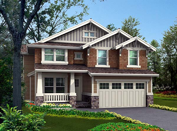 Bungalow, Craftsman House Plan 87451 with 4 Beds, 3 Baths, 2 Car Garage Front Elevation