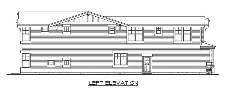 Craftsman House Plan 87498 with 5 Beds, 4 Baths, 3 Car Garage Picture 1