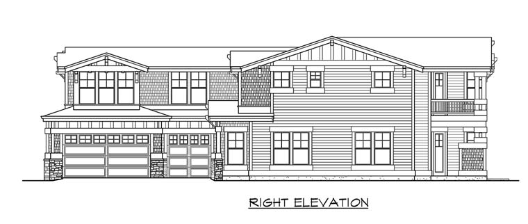Craftsman House Plan 87498 with 5 Beds, 4 Baths, 3 Car Garage Picture 2