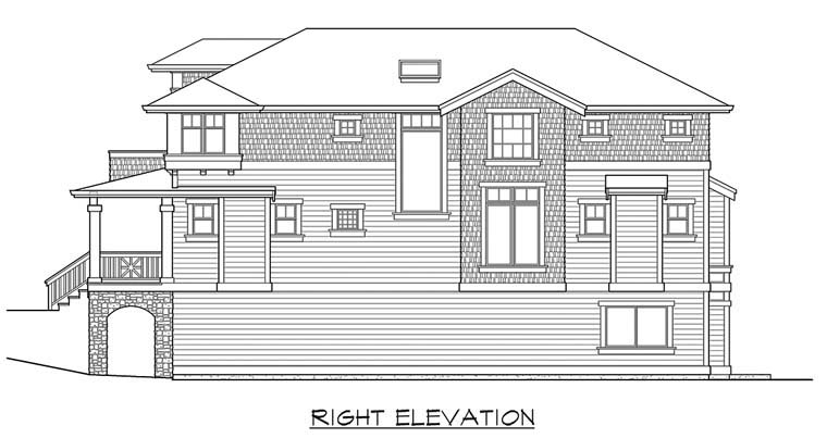 Narrow Lot Plan with 3506 Sq. Ft., 4 Bedrooms, 4 Bathrooms, 2 Car Garage Picture 3