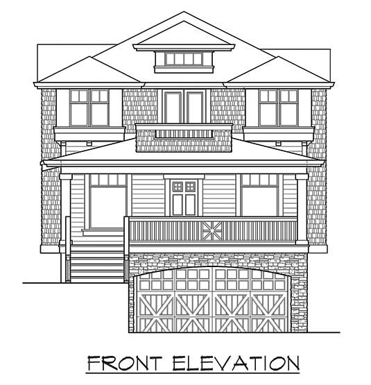 Narrow Lot Plan with 3506 Sq. Ft., 4 Bedrooms, 4 Bathrooms, 2 Car Garage Picture 4