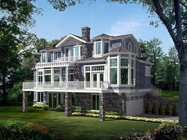 Contemporary, Southern House Plan 87571 with 4 Beds, 4 Baths, 3 Car Garage Front Elevation