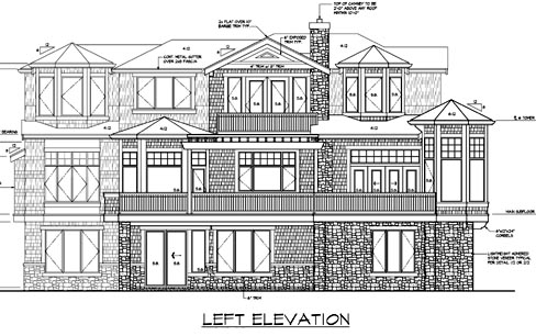 Contemporary, Southern House Plan 87571 with 4 Beds, 4 Baths, 3 Car Garage Picture 2