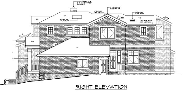 Contemporary, Southern House Plan 87571 with 4 Beds, 4 Baths, 3 Car Garage Picture 3