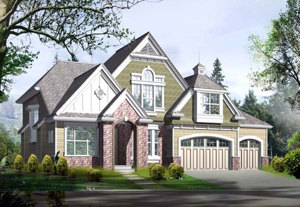 Craftsman House Plan 87664 with 5 Beds, 5 Baths, 3 Car Garage Elevation