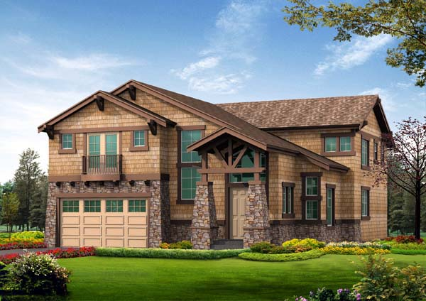 Craftsman, Tuscan House Plan 87666 with 5 Beds, 4 Baths, 2 Car Garage Elevation