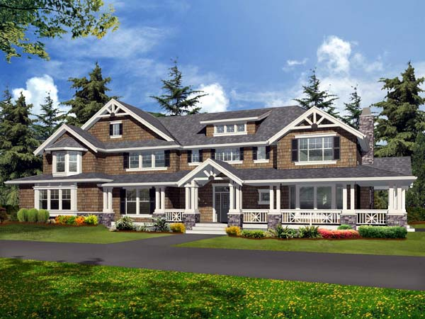 Craftsman House Plan 87670 with 4 Beds, 5 Baths, 4 Car Garage Front Elevation