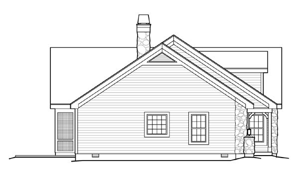 Cape Cod, Cottage, Country, Ranch, Victorian Plan with 1568 Sq. Ft., 2 Bedrooms, 2 Bathrooms, 3 Car Garage Picture 2