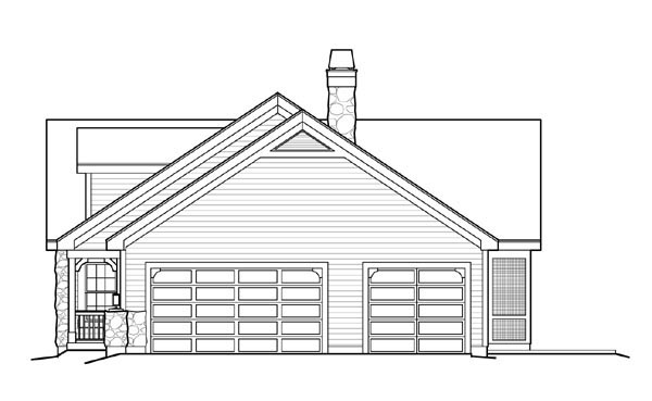 Cape Cod, Cottage, Country, Ranch, Victorian Plan with 1568 Sq. Ft., 2 Bedrooms, 2 Bathrooms, 3 Car Garage Picture 3