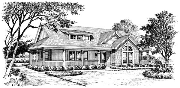 Bungalow, Country, Craftsman, Ranch House Plan 87811 with 3 Beds, 2 Baths, 2 Car Garage Picture 3
