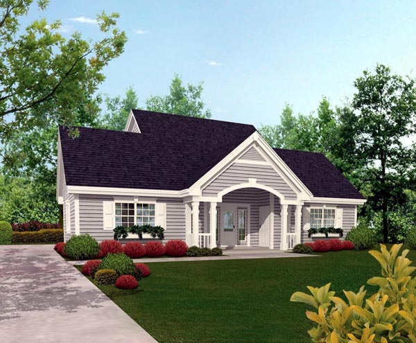 Cottage, Country, Craftsman, Saltbox, Southern, Traditional 4 Car Garage Apartment Plan 87815 with 1 Beds, 2 Baths Front Elevation