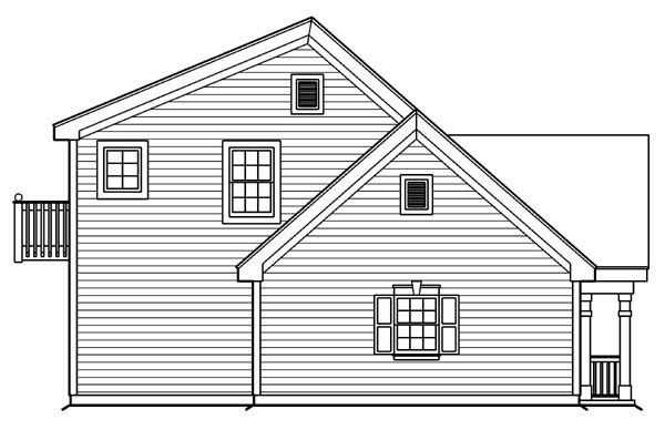 Cottage, Country, Craftsman, Saltbox, Southern, Traditional 4 Car Garage Apartment Plan 87815 with 1 Beds, 2 Baths Picture 1