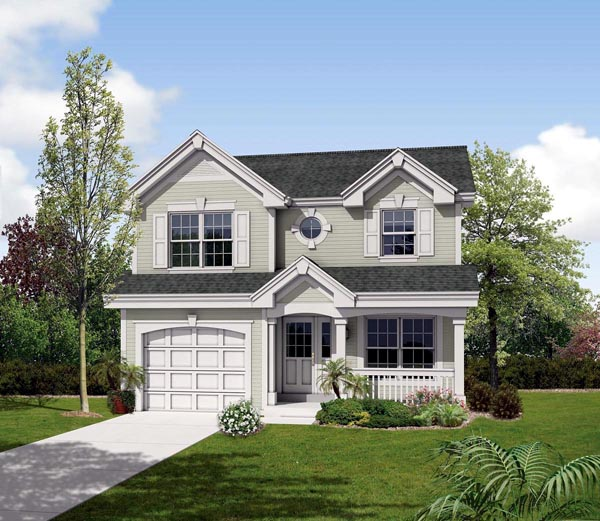 Country, Traditional House Plan 87819 with 2 Beds, 3 Baths, 1 Car Garage Elevation
