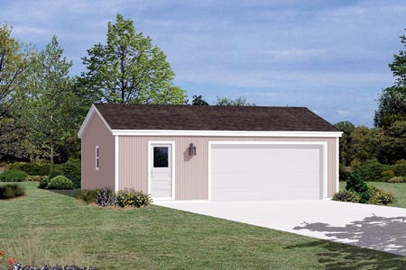 2 Car Garage Plan 87829 Elevation