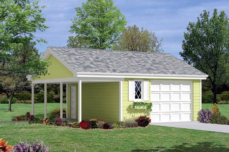 1 Car Garage Plan 87832 Front Elevation