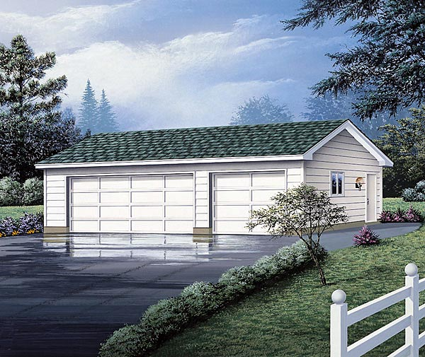 3 Car Garage Plan 87842 Elevation