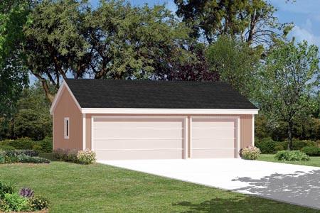 3 Car Garage Plan 87847 Elevation