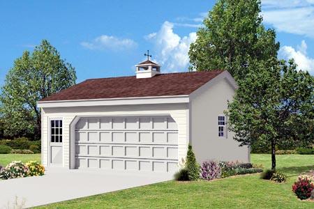 2 Car Garage Plan 87852 Elevation