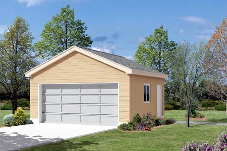 2 Car Garage Plan 87854 Elevation