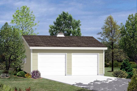 2 Car Garage Plan 87855 Elevation
