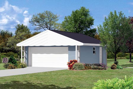 2 Car Garage Plan 87857 Elevation