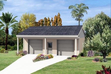 2 Car Garage Plan 87863 Front Elevation
