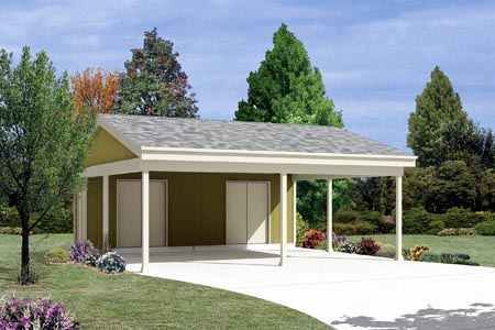 2 Car Garage Plan 87867 Elevation