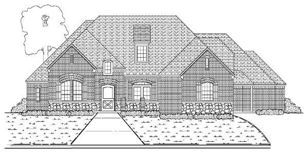 European House Plan 87924 with 4 Beds, 5 Baths, 3 Car Garage Elevation