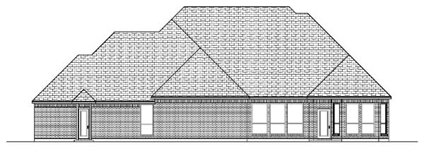 European House Plan 87924 with 4 Beds, 5 Baths, 3 Car Garage Rear Elevation