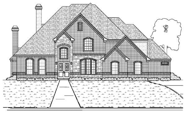 European House Plan 87934 with 4 Beds, 4 Baths, 3 Car Garage Elevation