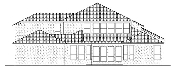Mediterranean House Plan 87936 with 5 Beds, 5 Baths, 3 Car Garage Rear Elevation